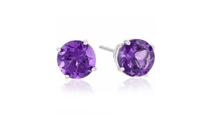 Sterling Silver Amethyst Stud Earrings for R349.00