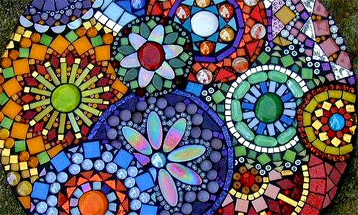 hyperli mosaic workshop for up to four at organic mosaics