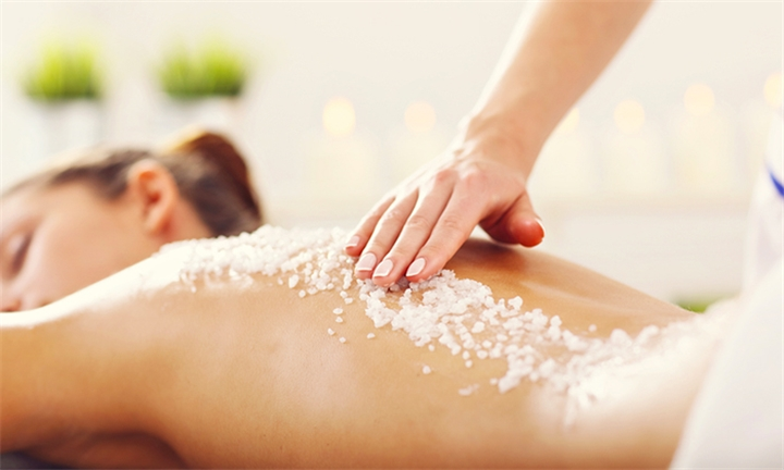 Hyperli full body exfoliation full body wrap and mani for Beauty spa tableview