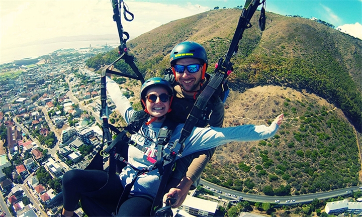 Tandem Paragliding Flight for R1099 for One with Icarus Paragliding
