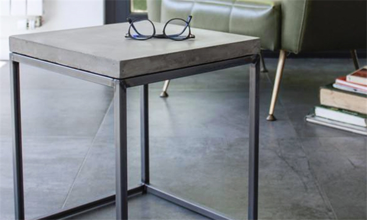 Hyperli Industrial Minimalist Concrete Side Table For R - Industrial concrete side table
