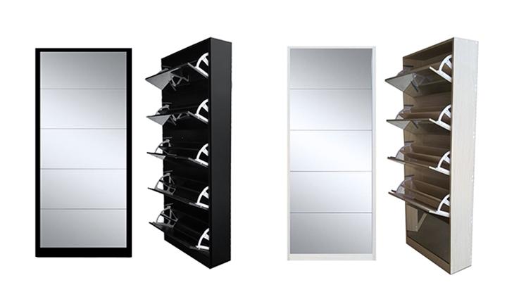 5 Door Mirror Shoe Cabinet For R1499
