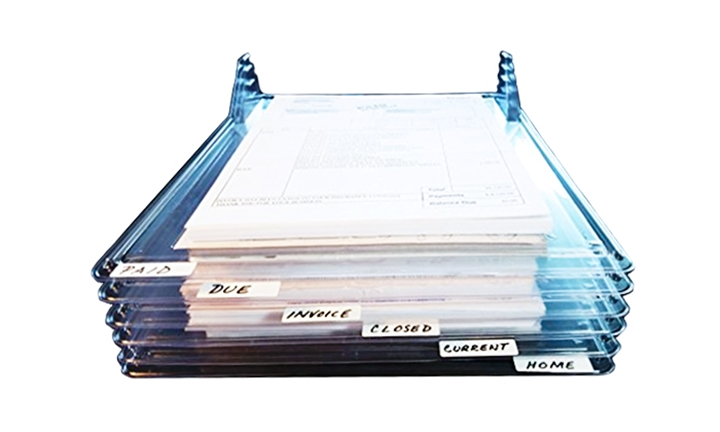 Image result for ezstax plastic document shelf