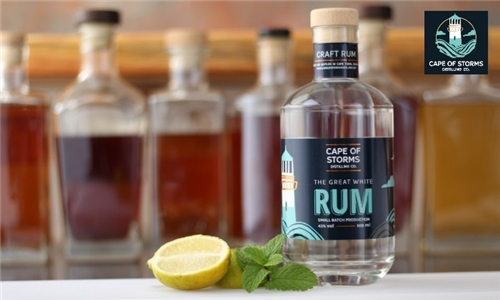 Pick-Up or Delivery: 1 x Bottle of The Great White Rum from Cape of Storms Distilling Company
