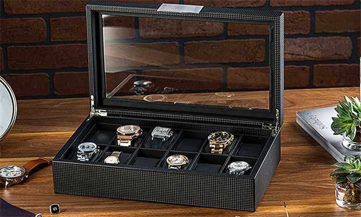 53979f58c Triton Luxury 12 Slot Carbon Fibre Watch Box Display Case Organiser for  R419. This deal is no longer available.